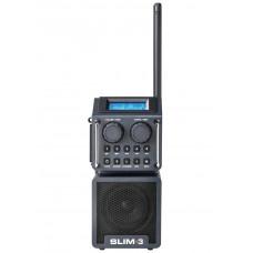 SLIM 3 ANTRACIET DAB+ - FM RDS - BLUETOOTH - USB/SD - AUX-IN - OPLAADB